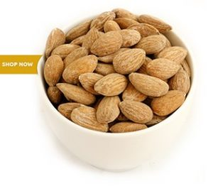 Almonds roasted salted 1kg