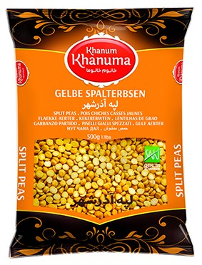 Special Khanum Khanuma yellow split peas 500g