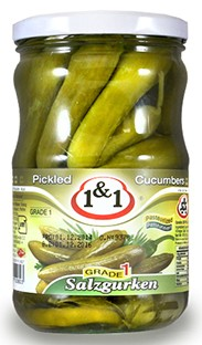 Salt cucumbers  1&1 700g