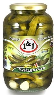 Salt cucumbers 1&1 1800g