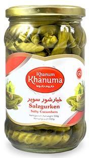 Salt cucumbers Khanum Khanuma G0 700g