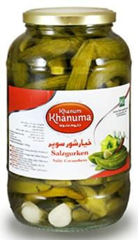 Salt cucumbers G0 Khanum Khanuma1800g