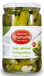 Salt cucumbers Khanum Khanuma G1 700g