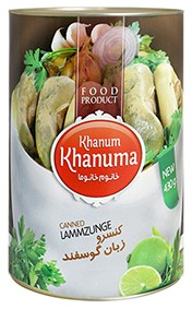Canned Khanum Khanuma lamb tongue 450g