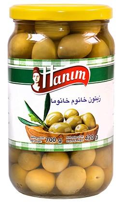 Green Olives khanum khanuma700g