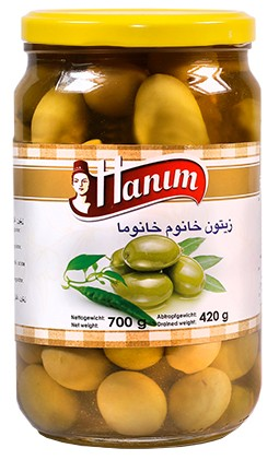 Green Olives - spicy khanum khanuma700g-