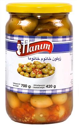 Oliven Cocktail - Spicy Hot Khanum Khanuma 12 x 700g