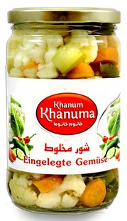 Salted vegetables Khanum Khanuma 700g
