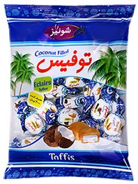 Chocolate Toffee filled with coconut Toffis 400g