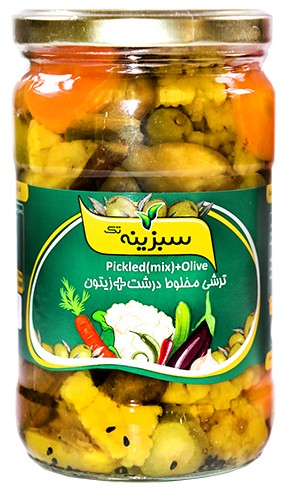 Pickled mixed with olive 650g