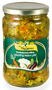 Pickled mixed with olive fine 650g