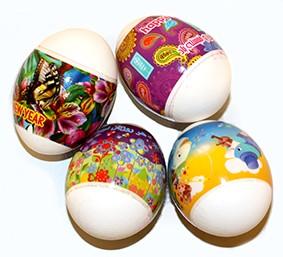 Label colored eggs